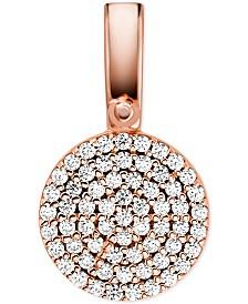 Michael Kors Women's Custom Kors Sterling Silver Pave Disc Charm