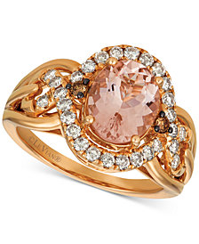 Le Vian® Morganite (1-3/4 ct. t.w.) & Diamond (5/8 ct. t.w.) Ring in 14k Rose Gold