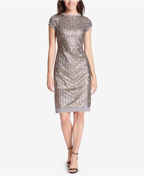 f382ca4f Vince Camuto Sequin Sheath Dress & Reviews - Dresses - Women - Macy's