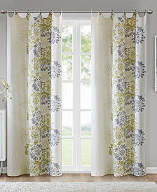 "Madison Park Anaya Cotton Floral 50"" x 63"" Grommet Window Panel"