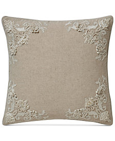 "VCNY Home Lyssa Embroidered 18"" Square Decorative Pillow"