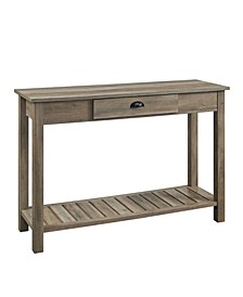 """48"""" Country Style Entry Console Table - Grey Wash"""