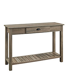 "48"" Country Style Entry Console Table - Grey Wash"