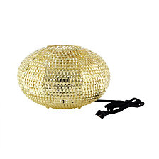 "8"" Hand-Crafted Globe Sparkle Table Lamp - Gold"