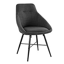 Urban Upholstered Side Chair, Set of 2 - Charcoal