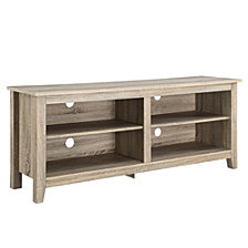 "58"" Wood TV Media Stand Storage Console - Natural"