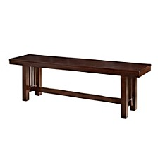 """60"""" Cappuccino Wood Kichen Dining Bench"""