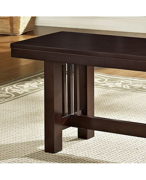 Wondrous 60 Cappuccino Wood Kichen Dining Bench Alphanode Cool Chair Designs And Ideas Alphanodeonline