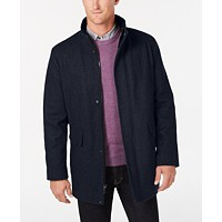 Deals on Calvin Klein Mens Wool Blend Car Coat