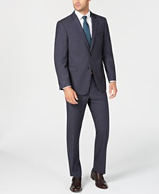 Tommy Hilfiger Men's Modern-Fit THFlex Stretch Navy/Gray Stripe Suit