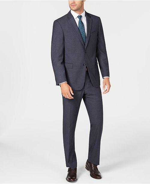 Tommy Hilfiger Men's Modern-Fit THFlex Stretch Navy/Gray Stripe Suit