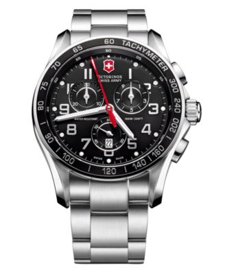 jewelry army steel men product macy xls swiss shop watches watch stainless chronograph fpx mens bracelet classic victorinox s