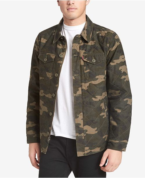 Levi's  Men's Camo Shirt-Jacket