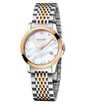 acf80cf58ce Gucci Women s Swiss G-Timeless Two Tone Stainless Steel Bracelet Watch 27mm  YA126514