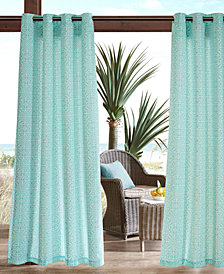Madison Park Aptos Grommets Printed Fret 3M Scotchgard Outdoor Panel Collection