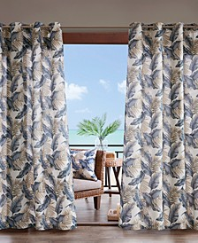 """Coco 54"""" x 108"""" Grommets Printed Leaf 3M Scotchgard Outdoor Panel"""