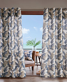 Madison Park Coco Grommets Printed Leaf 3M Scotchgard Outdoor Panel Collection