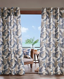 """Madison Park Coco 54"""" x 108"""" Grommets Printed Leaf 3M Scotchgard Outdoor Panel"""