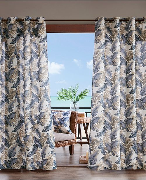 """Madison Park Coco 54"""" x 95"""" Grommets Printed Leaf 3M Scotchgard Outdoor Panel"""