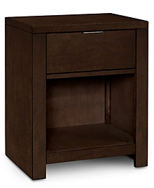 Tribeca Brown Nightstand, Created for Macy's
