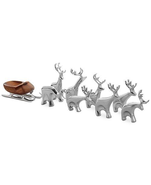 Nambe Mini Reindeer 9-Pc. Set