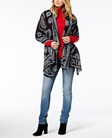 I.N.C. Clipped Geo Jacquard Wrap, Created for Macy's