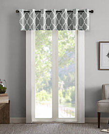 "Madison Park Merritt 50"" x 18"" Printed Grommet Window Valance"