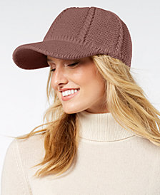 I.N.C. Cable-Knit Packable Baseball Cap, Created for Macy's