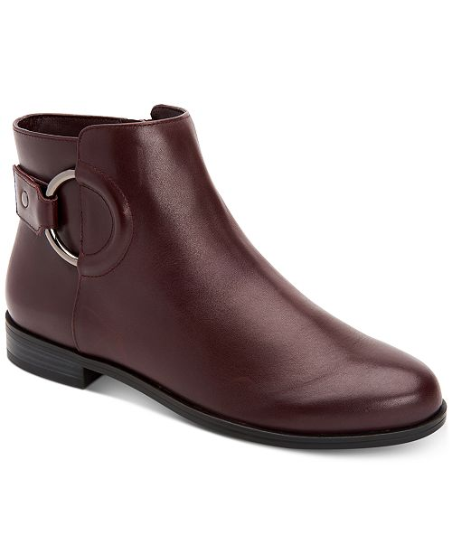Alfani Women's Step 'N Flex Avvia Leather Booties , Created for Macy's