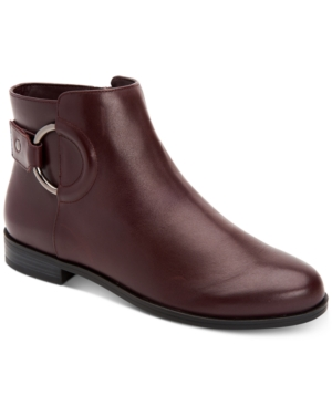 Image of Alfani Women's Step 'N Flex Avvia Leather Booties, Created for Macy's Women's Shoes