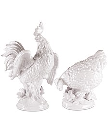 Savannah Rooster and Hen Figurines
