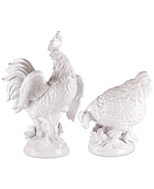 Fitz and Floyd Savannah Rooster and Hen Figurines