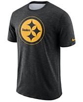 ace58043938 Nike Men s Pittsburgh Steelers Dri-Fit Cotton Slub On-Field T-Shirt
