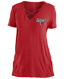 5th & Ocean Women's Atlanta Falcons Cross V T-Shirt