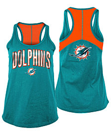 5th & Ocean Women's Miami Dolphins Foil Colorblock Tank