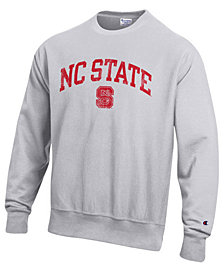 Champion Men's North Carolina State Wolfpack Reverse Weave Crew Sweatshirt