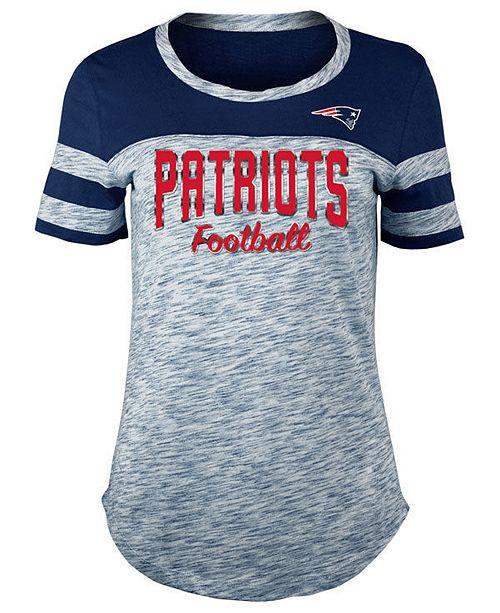 5th & Ocean Women's New England Patriots Space Dye T-Shirt