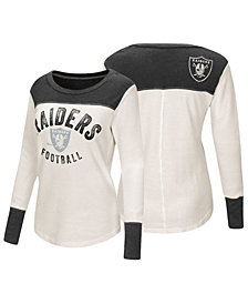 Touch by Alyssa Milano Women's Oakland Raiders Thermal Long Sleeve T-Shirt