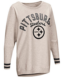 Touch by Alyssa Milano Women's Pittsburgh Steelers Backfield Long Sleeve Top