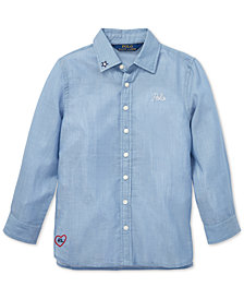 Polo Ralph Lauren Little Girls Embroidered Cotton Shirt