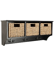 Finley Hanging 3-Basket Wall Rack, Quick Ship