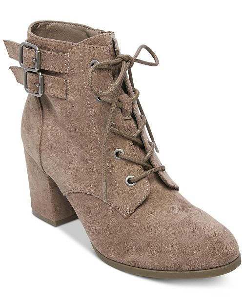 158e9123a4f Madden Girl Theoo Lace-Up Booties   Reviews - Boots - Shoes - Macy s