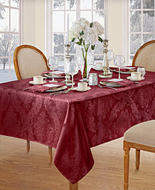 Elrene Barcelona Burgundy Table Linen Collection