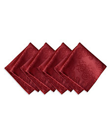Elrene Barcelona  Red Set of 4 Napkins