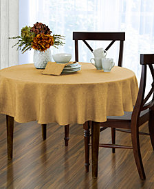 "Elrene Pennington Gold 70"" Round Tablecloth"