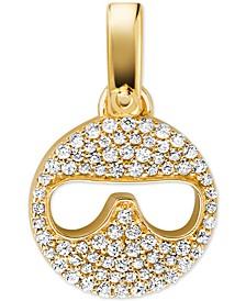 Women's Custom Kors 14K Gold-Plated Sterling Silver Sunglass Emoji Charm