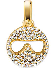 Michael Kors Women's Custom Kors 14K Gold-Plated Sterling Silver Sunglass Emoji Charm