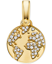 Michael Kors Women's Custom Kors 14K Gold-Plated Sterling Silver Globe Charm