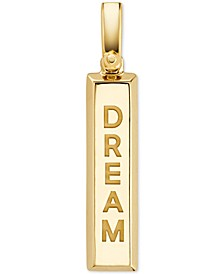Women's Custom Kors 14K Gold-Plated Sterling Silver Inspirational Word Charm