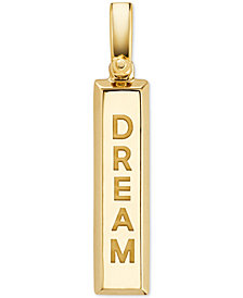Michael Kors Women's Custom Kors 14K Gold-Plated Sterling Silver Inspirational Word Charm